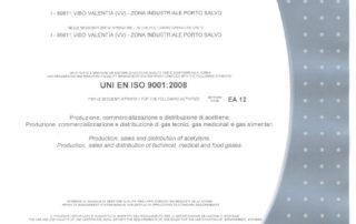 Certificato CERTIQUALITY ISO 9001-2008 ICOA SRL